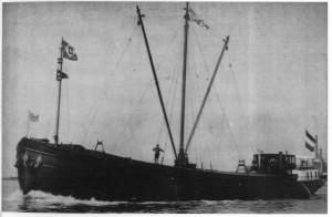 De Terra Nova op zijn proefvaart in 1929